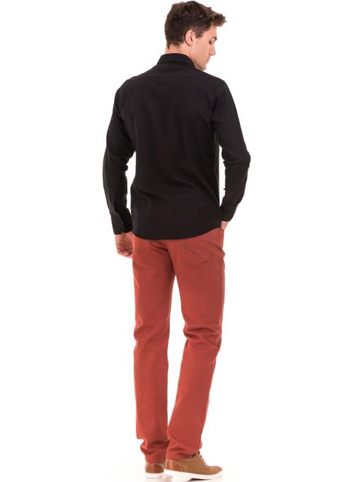 Класическа мъжка едноцветна риза AVVA 2106 - черна E