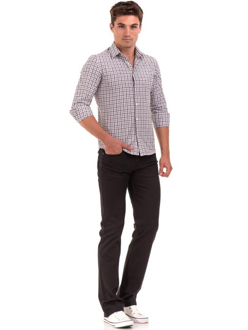 Мъжка карирана риза AVVA 2271 - светло сива C