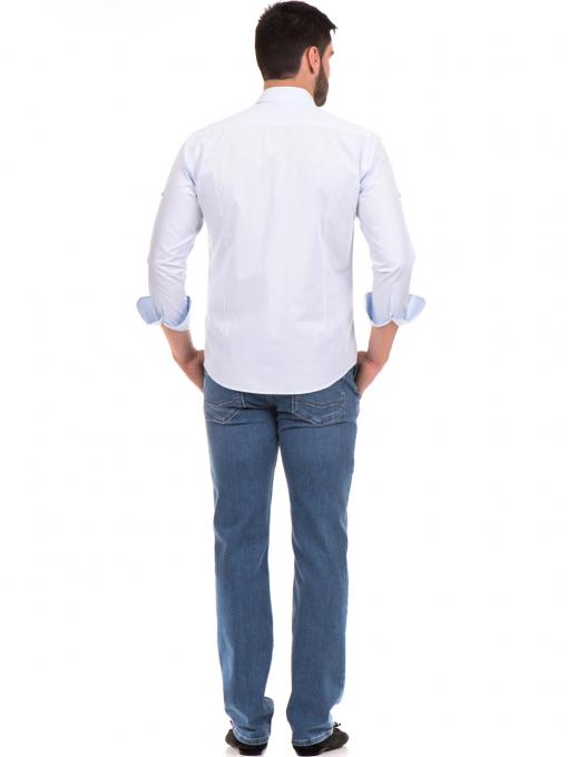 Класическа мъжка риза с два джоба AVVA 2420 - светло синя E