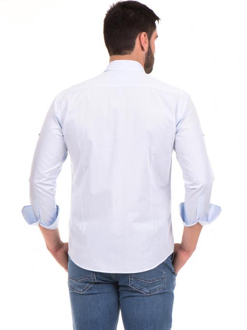 Класическа мъжка риза с два джоба AVVA 2420 - светло синя B