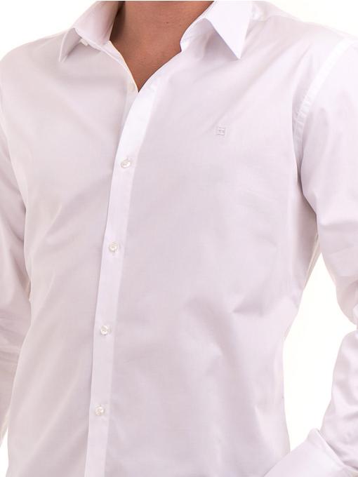 Вталена мъжка риза  AVVA 2693 - бяла D