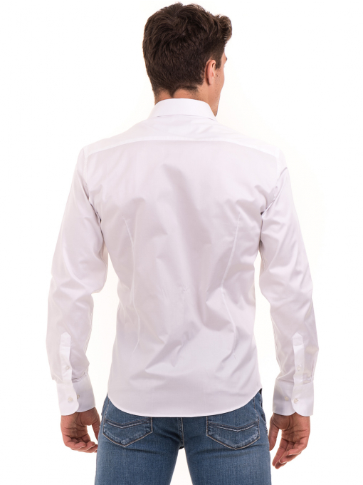 Вталена мъжка риза  AVVA 2693 - бяла B