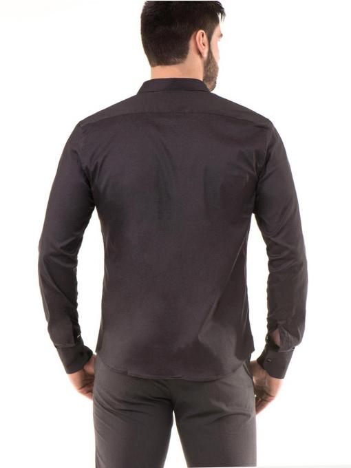 Мъжка риза SEMCO с класическа яка - цвят антрацит 70702 INDIGO Fashion