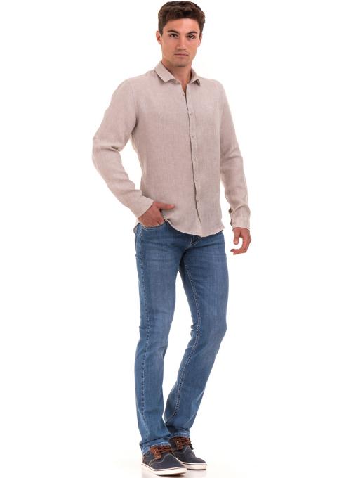 Мъжки дънки LACARINO 3793 с права кройка - деним C1