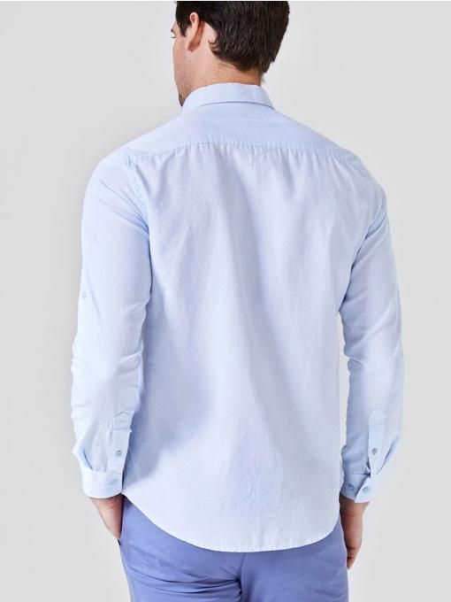 Класическа светлосиня памучна мъжка риза  700644 INDIGO Fashion