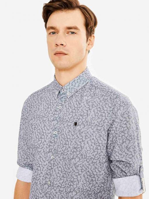 Мъжка риза в сив меланж 700726 INDIGO Fashion