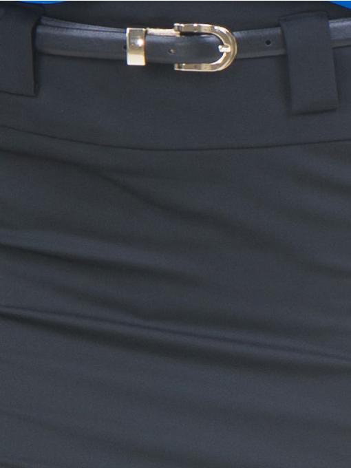 Елегантна пола F.L.M с колан 200 - черна D