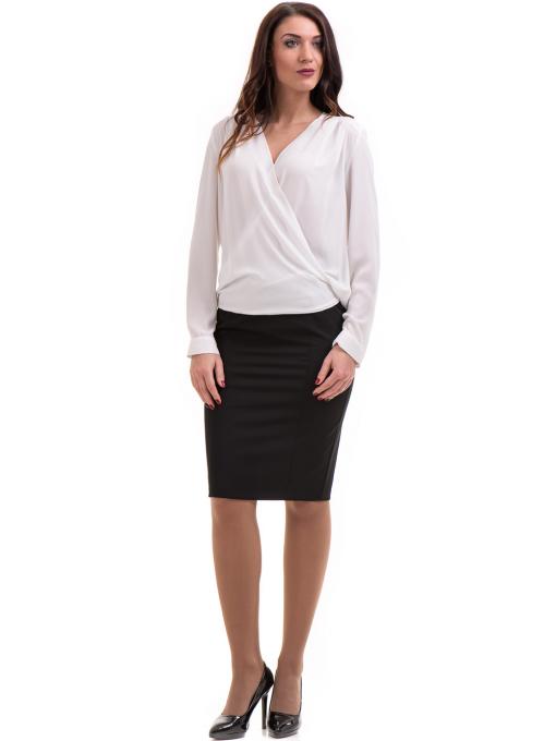 Елегантна дамска блуза ZANZI 16024 - бяла C2