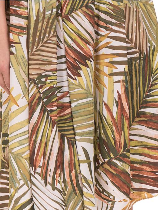 Пола с флорални мотиви XINT 120 - зелена D