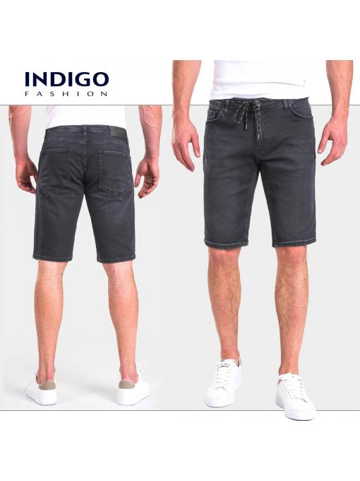Мъжки дънкови бермуди 13087 от Indigo Fashion 5