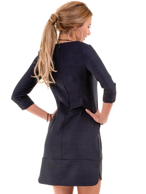 Рокля DISE Big Size - тъмно синя B2011 INDIGO Fashion
