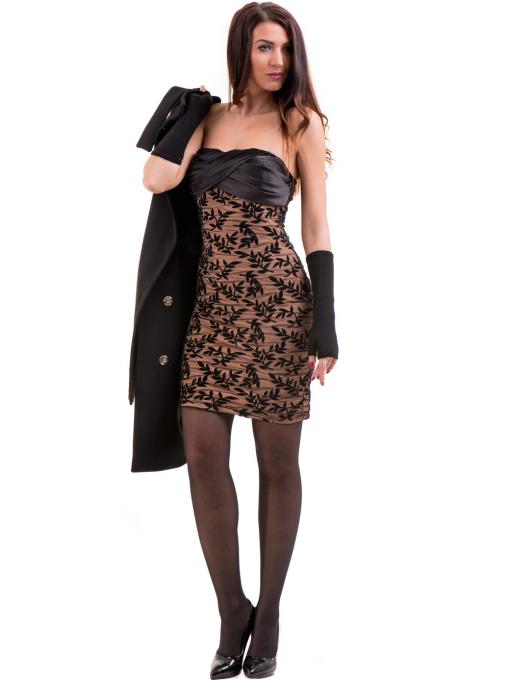 Елегантно дамско палто ICON 9201- черно C1