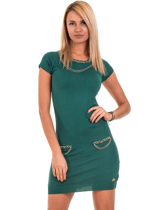 Рокля KAZEE от фино плетиво 10707- зелена