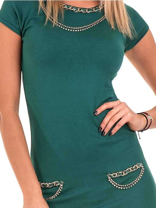Рокля KAZEE от фино плетиво 10707- зелена D