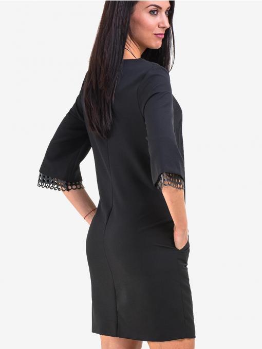 Рокля MACCA със свободна кройка - черна 808 INDIGO Fashion