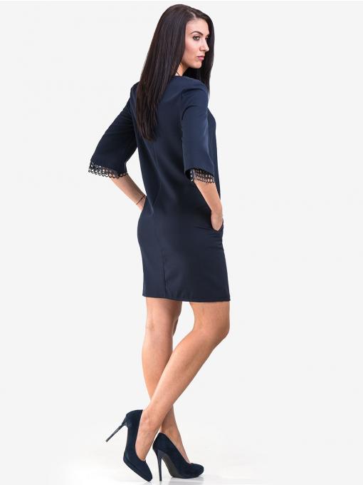 Рокля MACCA със свободна кройка - тъмно синя 808 INDIGO Fashion