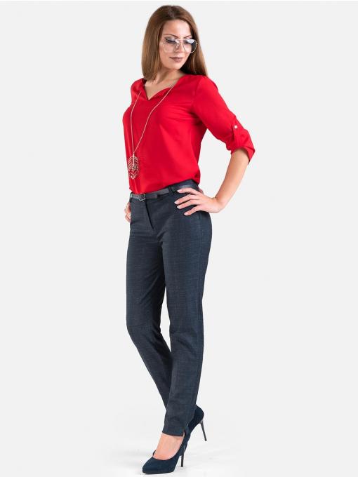 Дамски панталон с елек - тъмносин 50866 INDIGO Fashion