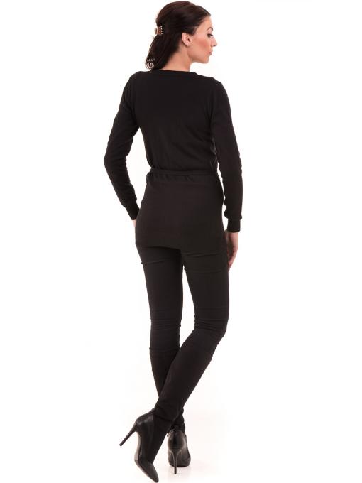 Дамска жилетка с колан MISS POEM 486 - черна E