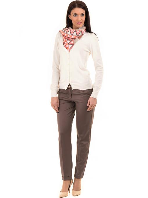 Дамска жилетка фино плетиво STAMINA 13204 - цвят екрю C