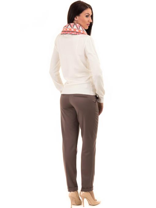 Дамска жилетка фино плетиво STAMINA 13204 - цвят екрю E