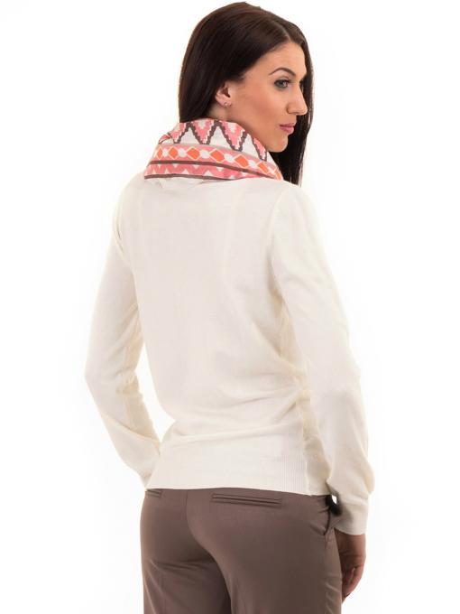 Дамска жилетка фино плетиво STAMINA 13204 - цвят екрю B