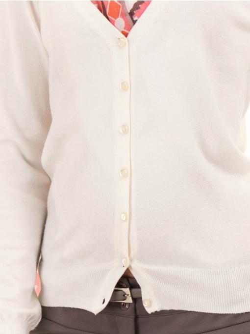 Дамска жилетка фино плетиво STAMINA 13204 - цвят екрю D