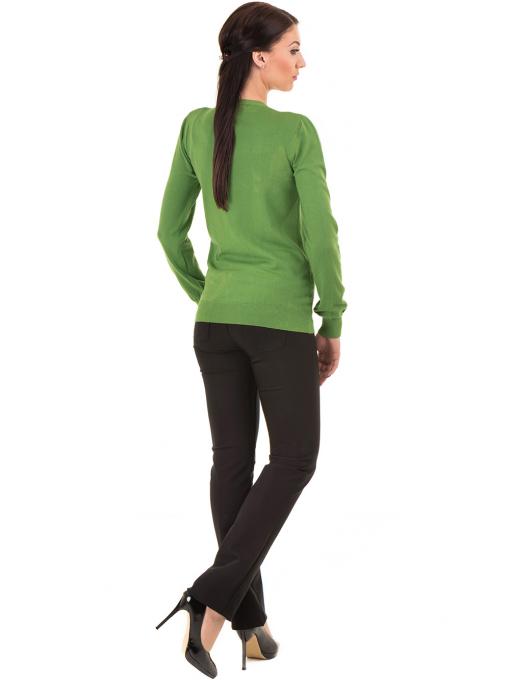 Дамска жилетка фино плетиво STAMINA  13204 - зелена E