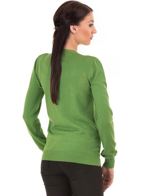 Дамска жилетка фино плетиво STAMINA  13204 - зелена B