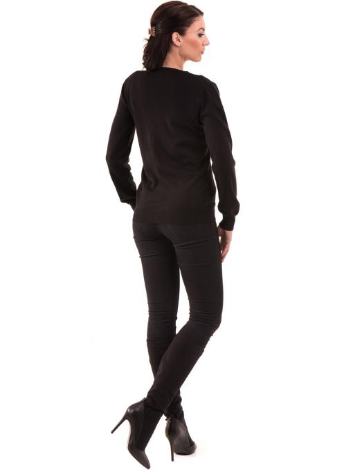 Дамска жилетка фино плетиво STAMINA 13204 - черна E