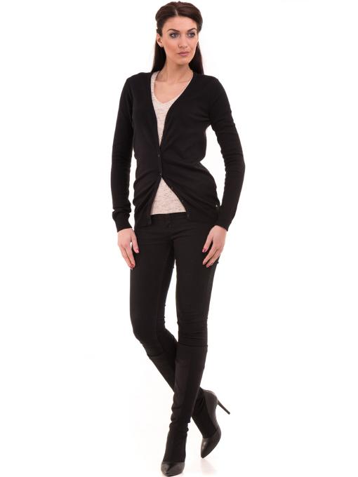 Дамска жилетка фино плетиво XINT 466 - черна C