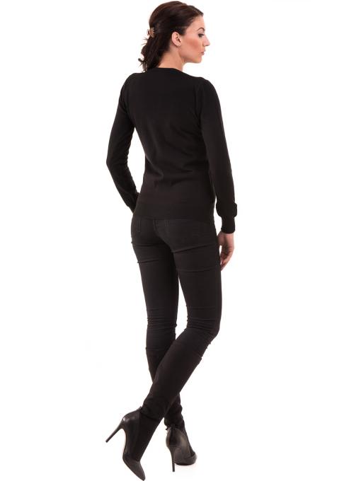 Дамска жилетка фино плетиво XINT 466 - черна E