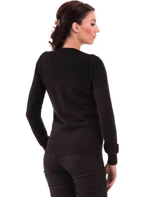 Дамска жилетка фино плетиво XINT 466 - черна B