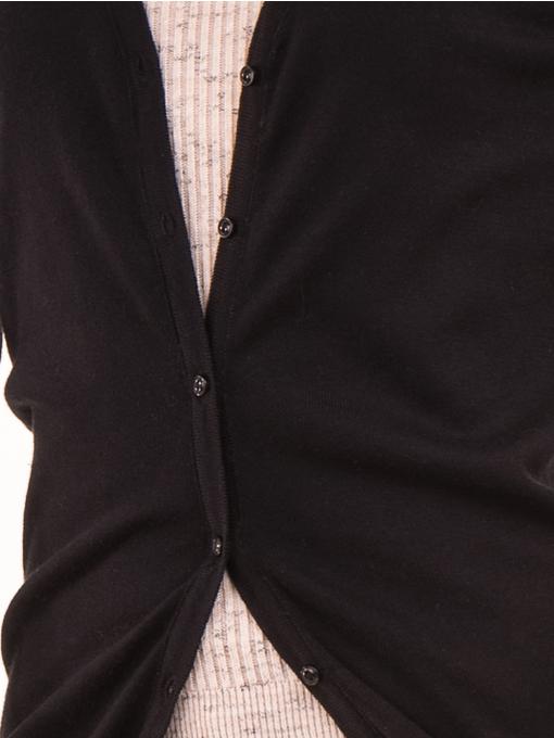 Дамска жилетка фино плетиво XINT 466 - черна D