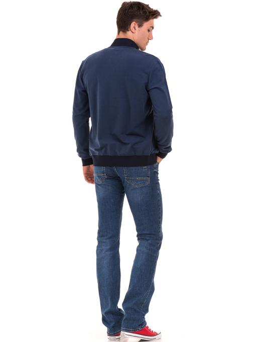 Мъжки суитчър с висока яка CAPORICCO B7672 - син- големи размери E