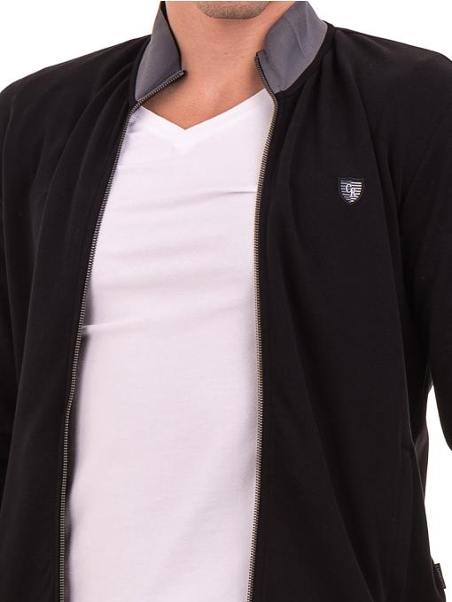 Мъжки суитчър с висока якса CAPORICCO B7672 - черен- големи размери D