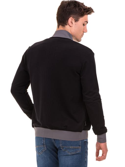 Мъжки суитчър с висока яка CAPORICCO 7672 - черен B