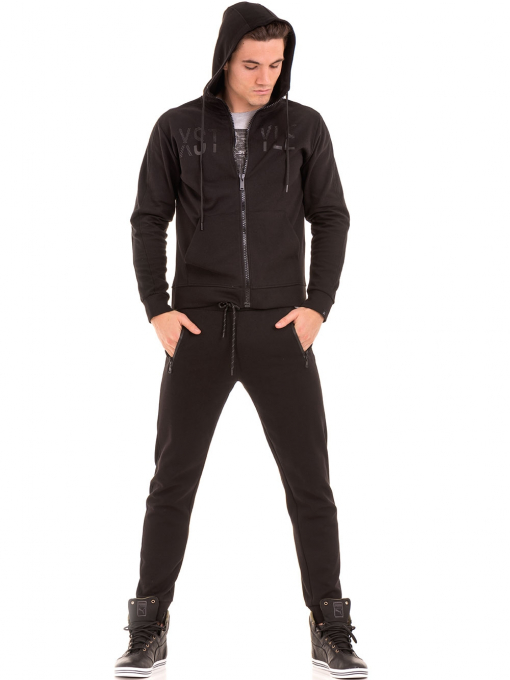 Мъжки суитчър с цип XINT 085 - черен C