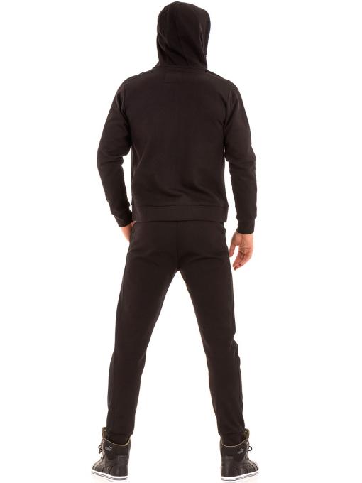 Мъжки суитчър с цип XINT 085 - черен E