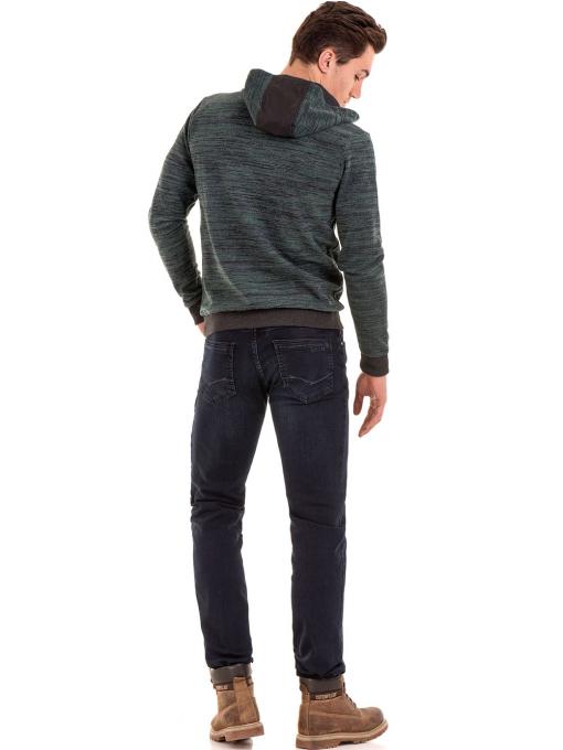 Мъжки суитчър с качулка XINT 092 - тъмно зелен E