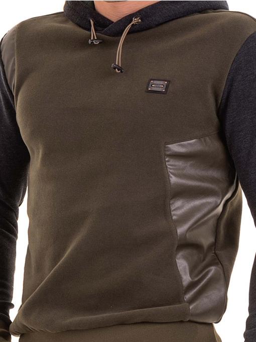 Мъжки суитчър с качулка XINT 110 - цвят каки D