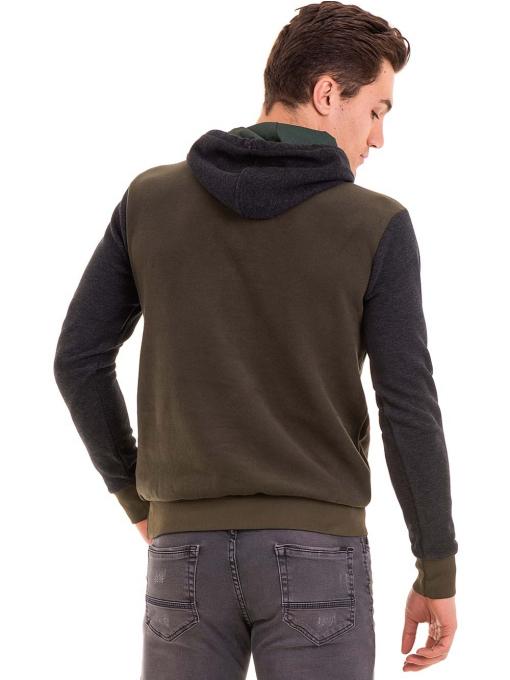 Мъжки суитчър с качулка XINT 110 - цвят каки B