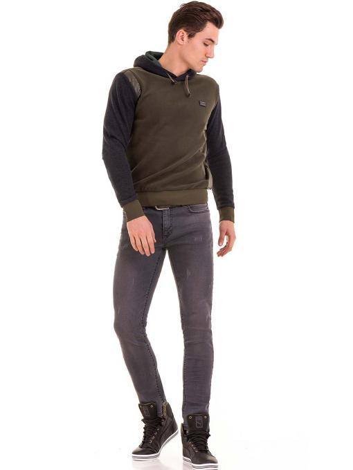 Мъжки суитчър с качулка XINT 110 - цвят каки C