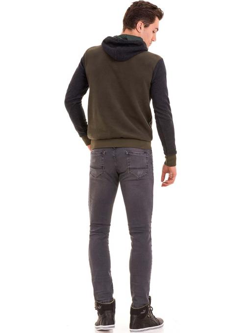 Мъжки суитчър с качулка XINT 110 - цвят каки E