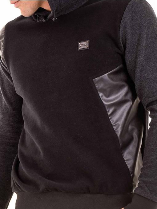 Мъжки суитчър с качулка XINT 110 - черен D