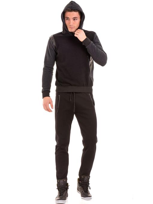 Мъжки суитчър с качулка XINT 110 - черен C1
