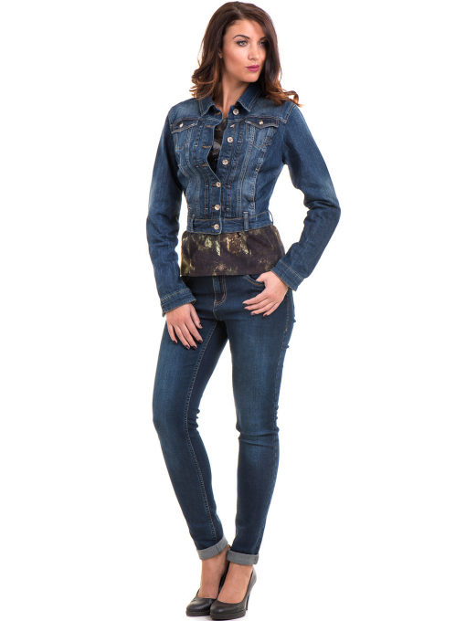 Дамска блуза с абстрактна шарка XINT 100 - цвят каки C1