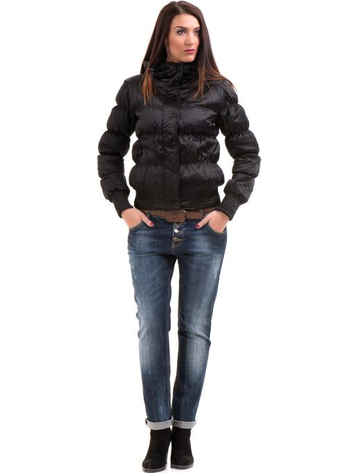 Дамски дънки бойфренд модел APPLAUSE FASHION 200 с колан - тъмен деним C4