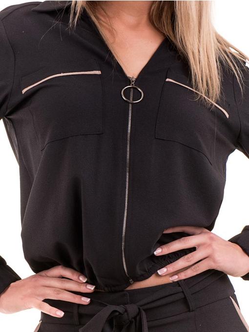 Дамско яке с цип ZANZI 17100 - черно D