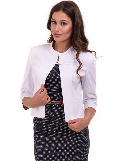 Дамско сако MODE CLASS - бяло от Indigo Fashion