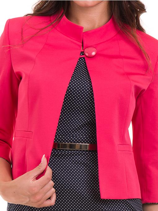 Дамско сако MODE CLASS - тъмно розово от Indigo Fashion 4